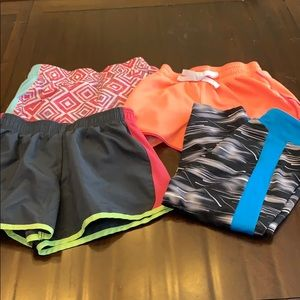 Girls athletic shorts and Capri leggings